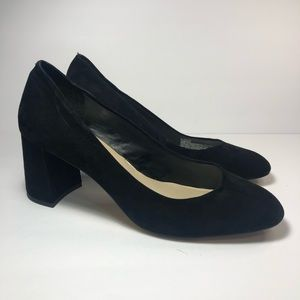 Saks Fifth Avenue Round Toe Pumps Black S10